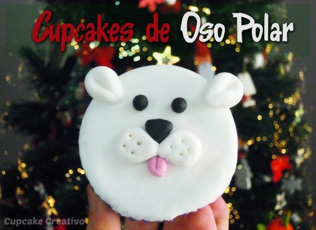 Decorar Cupcakes de Oso Polar con Fondant