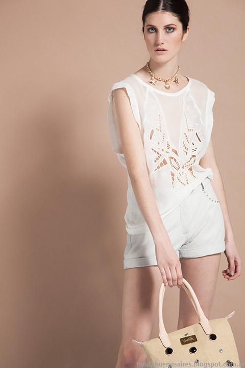 Blusas delicadas y femeninas, tendencia generos calados y broderie, Vero Alfie 2015 moda.