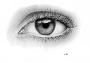 خطوات رسم العين