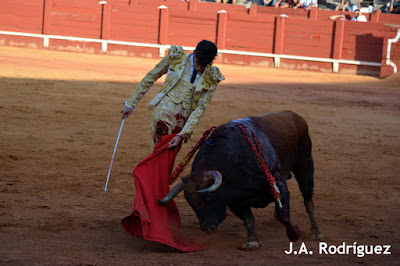 López Simón en la corrida goyesca de Aranjuez
