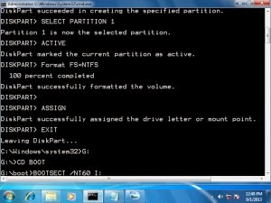 how to create a bootable flash drive using cmd