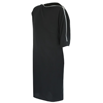 mcq alexander mcqueen s bend zipper neck zip dress
