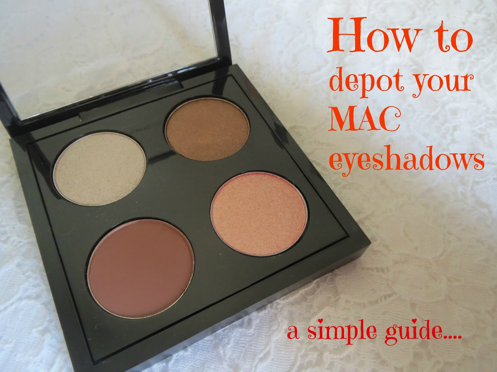 How to De-Pot Your Eyeshadows Without RuiningThem