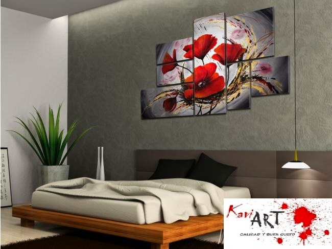 Cuadros flores para sala comedor dormitorio desd 250 soles s 390 00 en mercado libre - Cuadros para dormitorios modernos ...