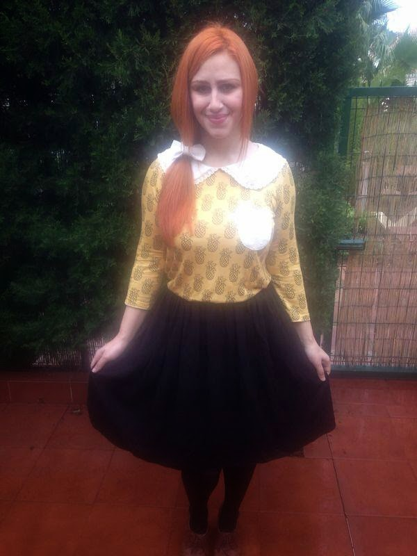 outfit autumn color colores de otoño bow lazos naif casual vintage