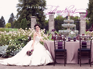"Check out our Style Shoot ""The Secret Amethyst Garden"" featured on WEDLUXE!"