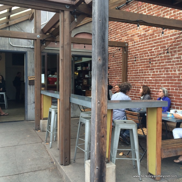 outdoor seating at Bartavelle Coffee & Wine Bar in Berkeley, California