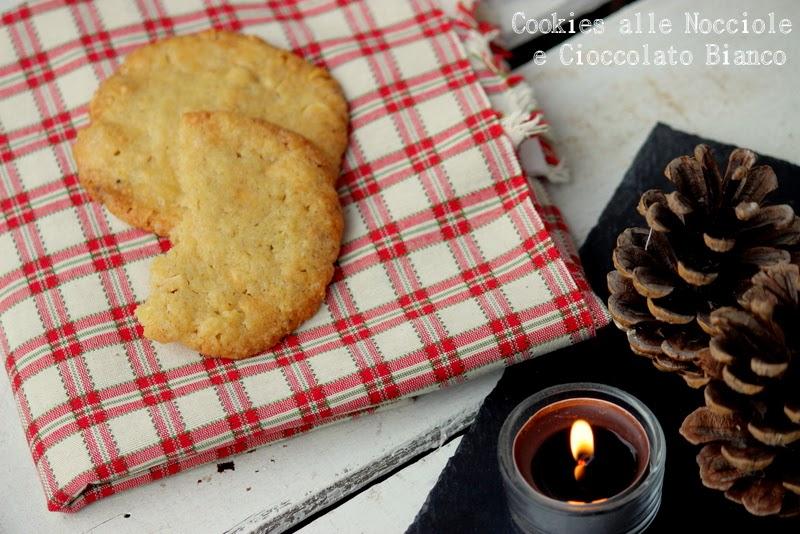regli di natale home made #4 :cookies con nocciole e cioccolato bianco