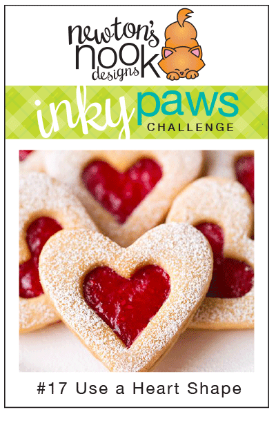 Inky Paws Challenge #17 - Add a Heart -  Newton's Nook Designs