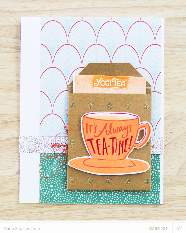 It's Always Tea-Time! - handmade card by @pixnglue