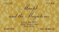 Murph and the Magictones business card