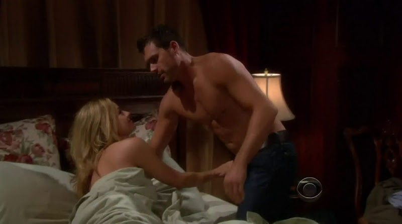 Joshua Morrow Shirtless in Young and the Restless 20111201