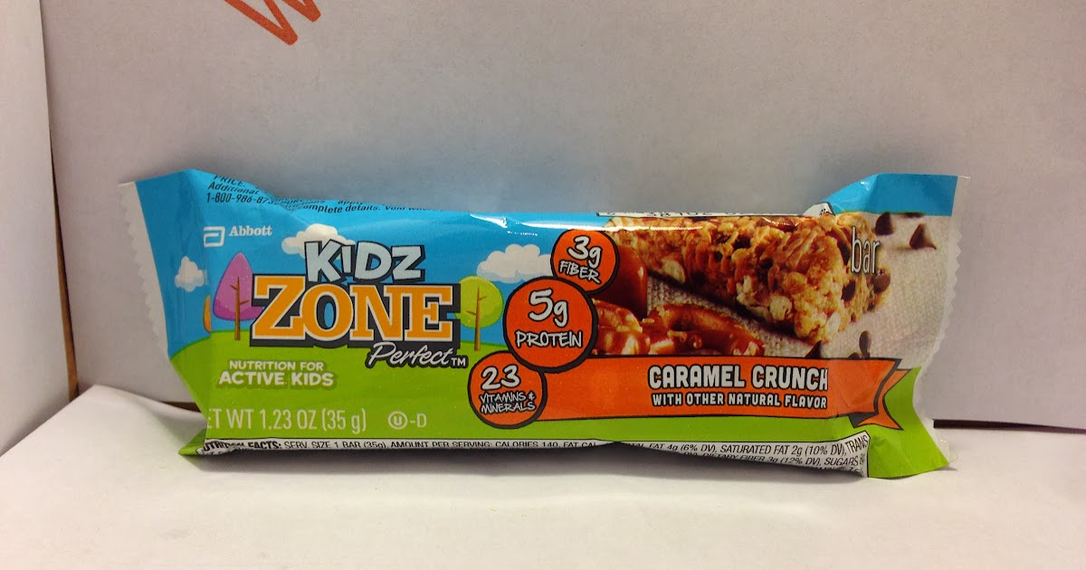 Crazy food dude review zone perfect kidz caramel crunch bar for Food bar t zone