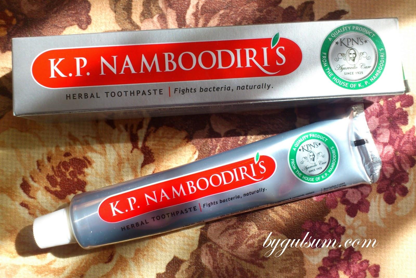 KP Namboodiri's Herbal Toothpaste