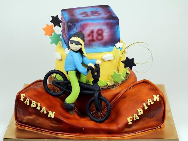 18th Birthday Cake for BMX Rider - Celebration Cakes in London