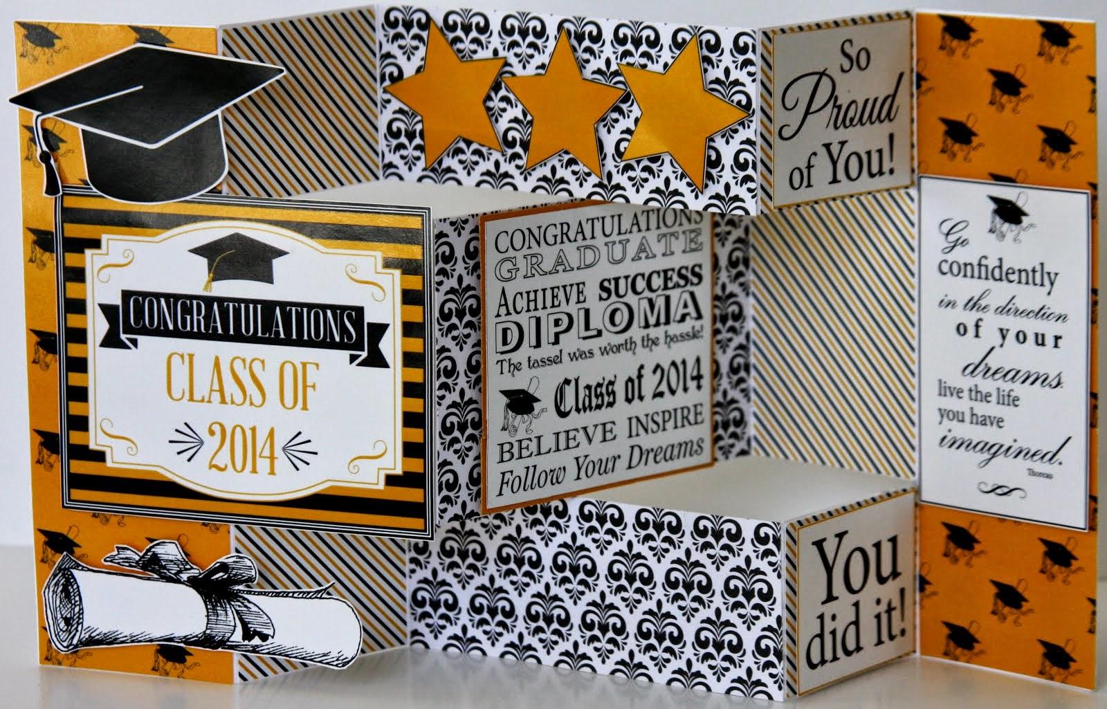Tri-Fold Shutter Card Graduation