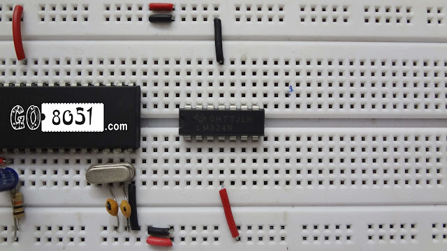 Chapter 5.4 - Interfacing LM324 Comparator IC with LDR(Light Dependent Resistor) Sensor on Bread Board - Practical Tutorial