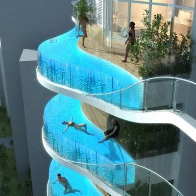 piscina en balcón