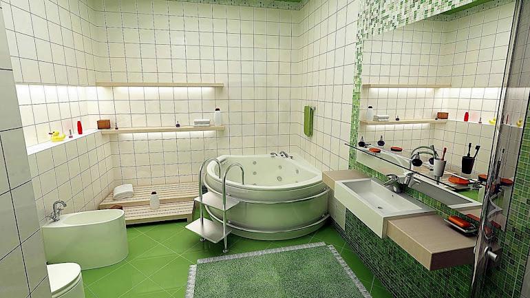 Interior Beautiful bathroom