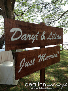 Solemnisation Wooden signage