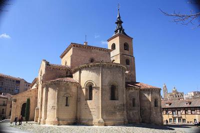 San Millán romanesque church in Segovia