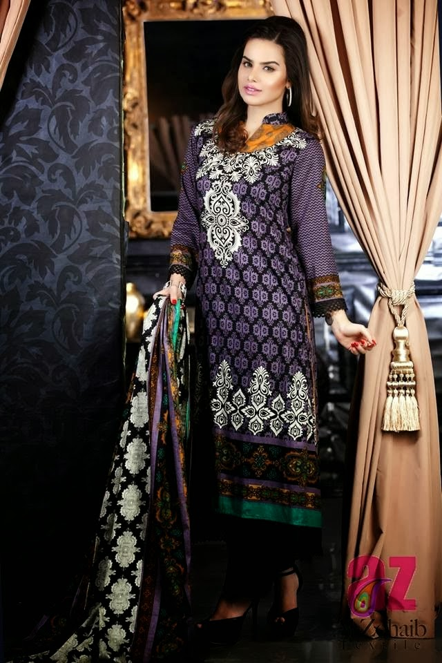 Long Shalwar Kameez Lawn Dresses