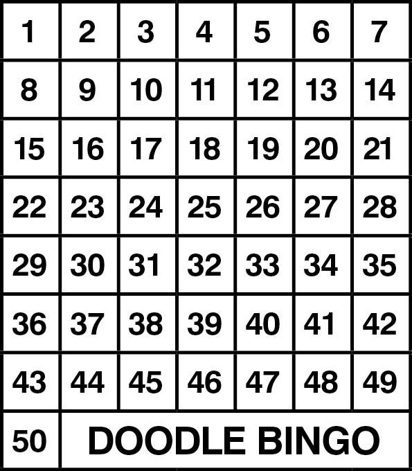Number+Cards1-50 Number grid 1-50.