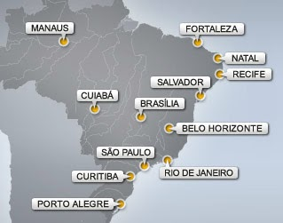 World Cup 2014 Destination Cities