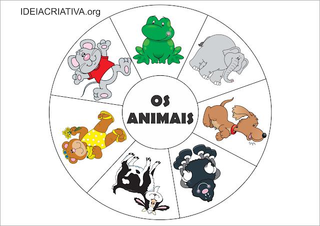 Roletas para salas de recursos com figuras de animais
