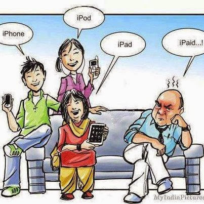 Funny Cartoon: Iphone,Ipod,Ipad,Ipaid