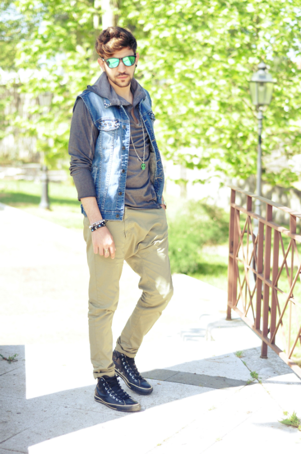 2converse jeans uomo