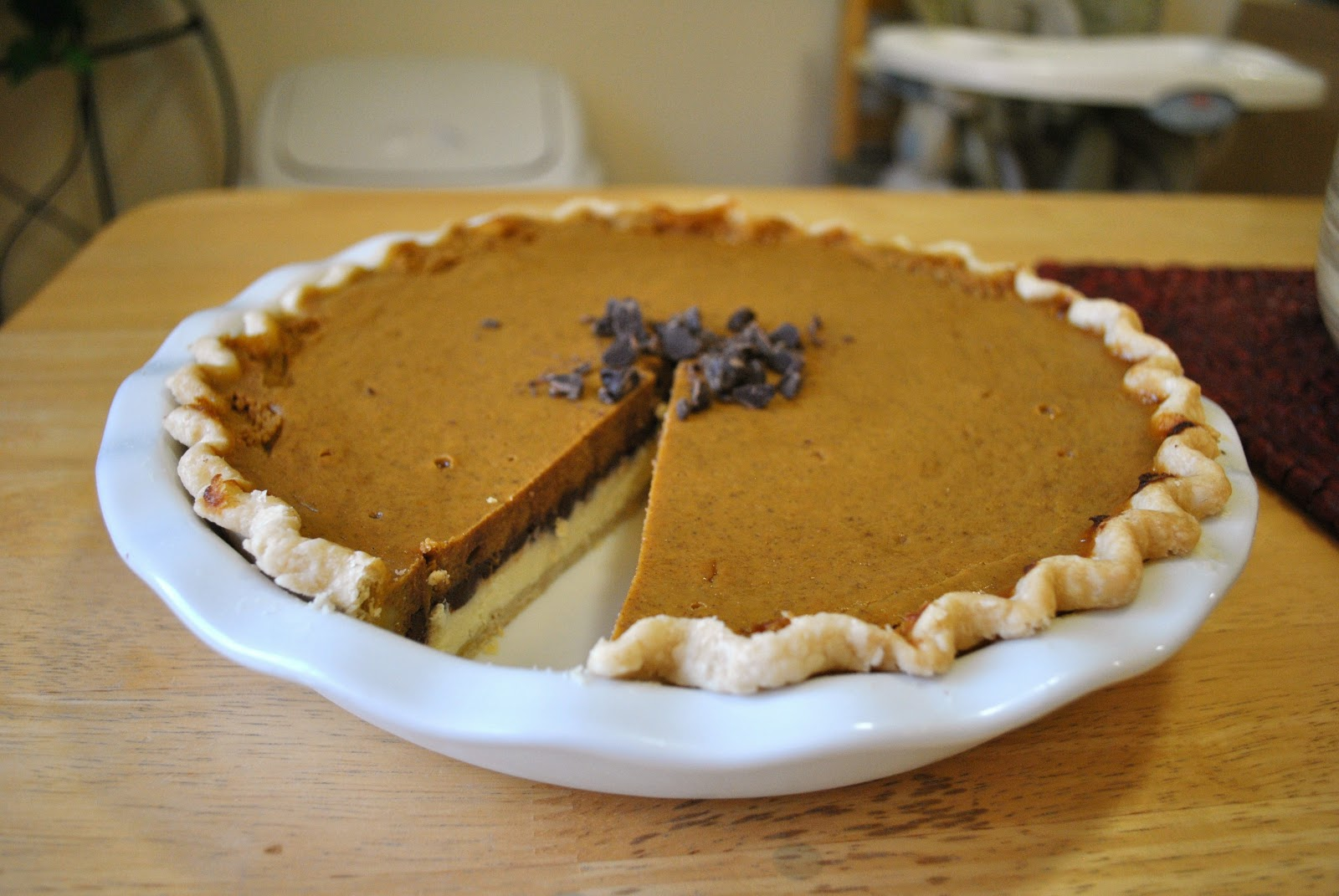 ... in Her Kitchen: Pumpkin Chocolate Cheesecake Pie + 2 Confessions