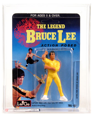 THE LEGEND BRUCE LEE - FIGURA DE ACCION - By LarGo  AFA GRADED 80NM