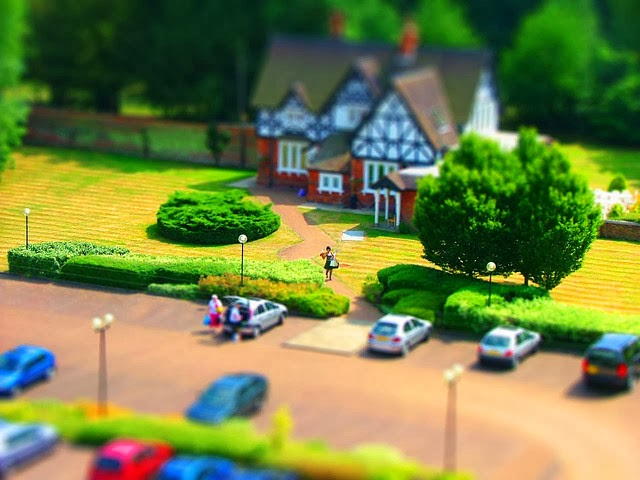 Is tilt-shift photography, like this example photo, a form of toyification?