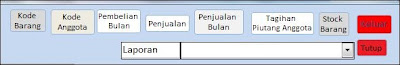 Kontrol Button Aplikasi database Access
