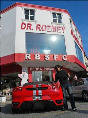 Kereta Ferrari F430 Milik dR Rozmey