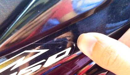 Cara Melepas Stiker atau Striping Pada Sepeda Motor