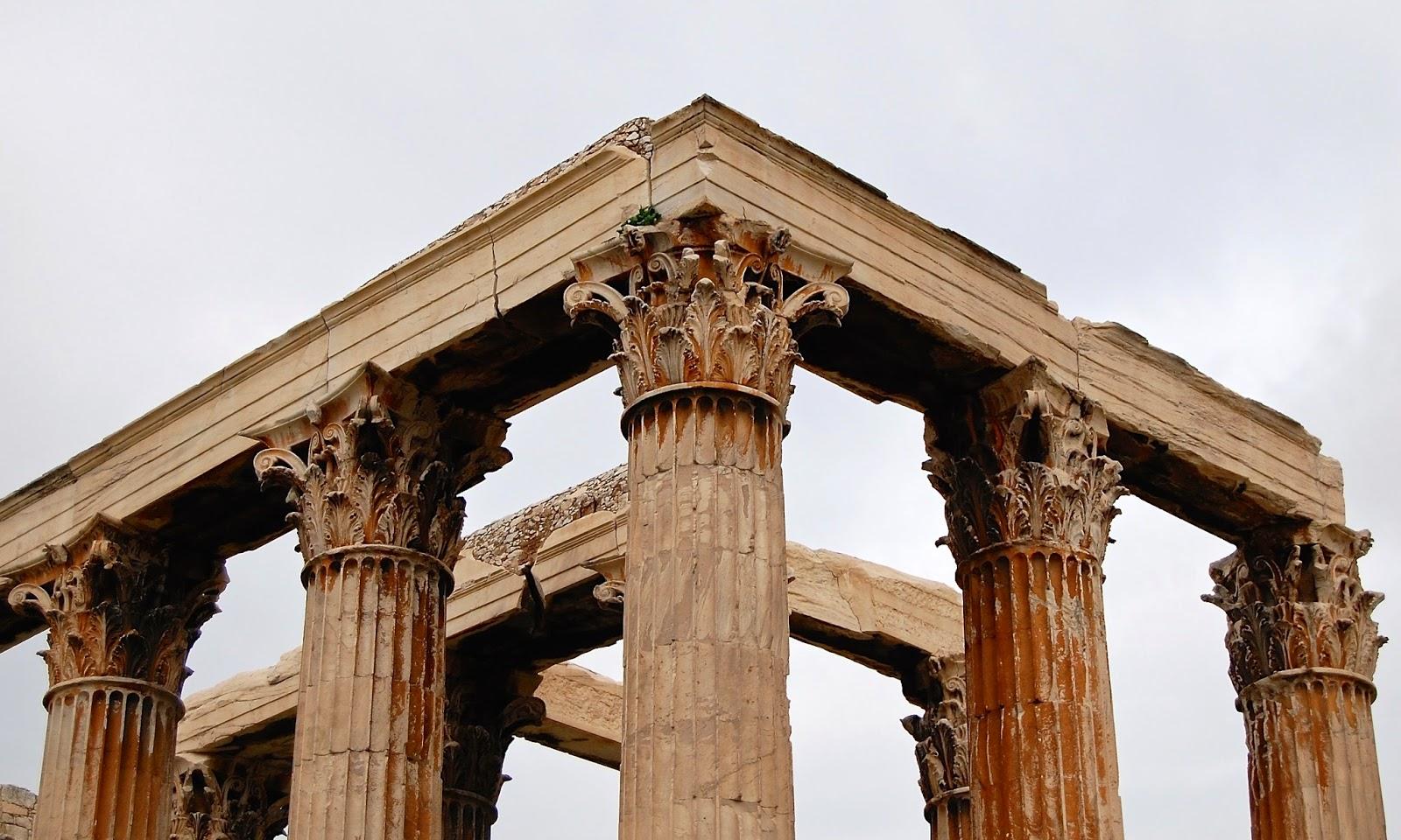 Corinthian capitals on the Temple of Olympian Zeus