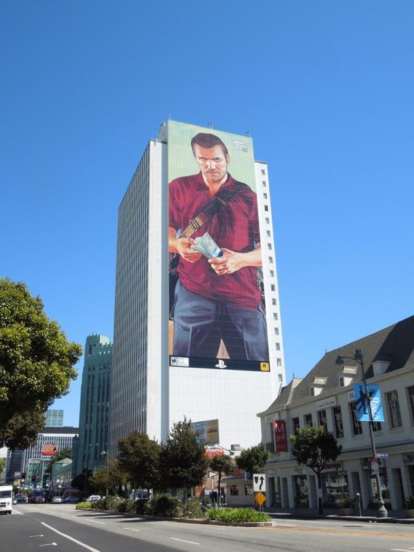 Giant Grand Theft Auto 5 billboard