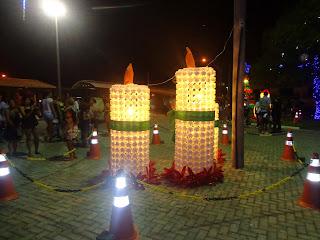 Decoração de Natal na antiga Praça dos Ourives.
