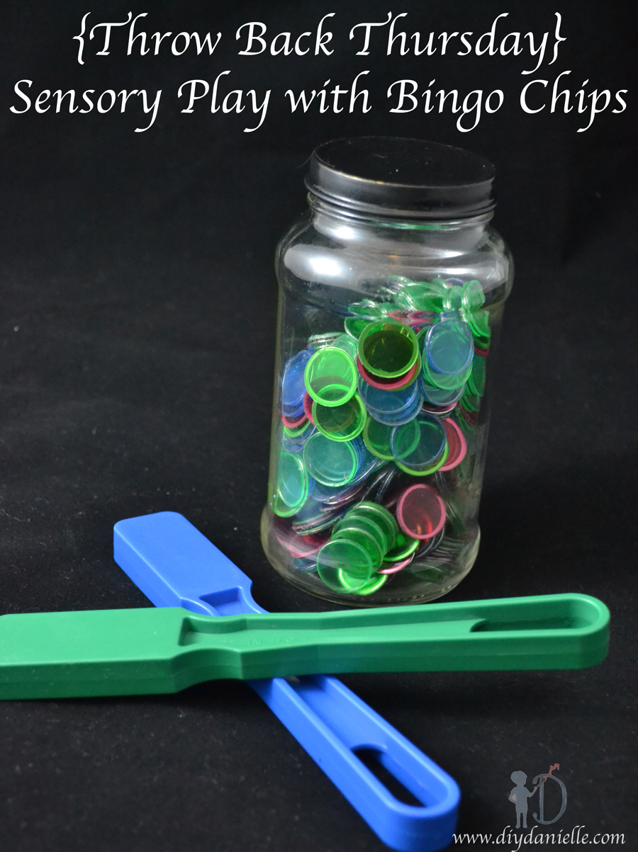 {Throw Back Thursday} Sensory Play with Bingo Chips