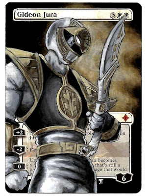 Gideon Jura altered art magic the gathering mtg iplaythisgame power ranger alter