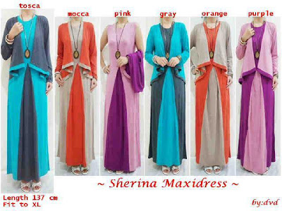Model Trendi Baju Gamis Busana Muslim Terbaru 2014