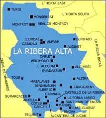 MAPA DE LA RIBERA ALTA DEL  XUQUER