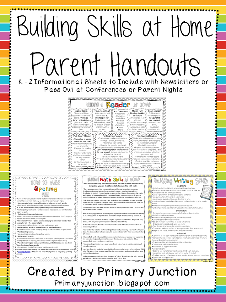 Classroom Handout Ideas ~ Helping at home parent handouts classroom freebies