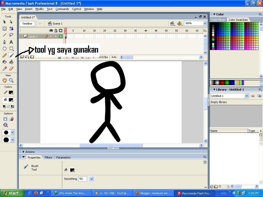 cara membuat animasi stick di macromedia flash 8