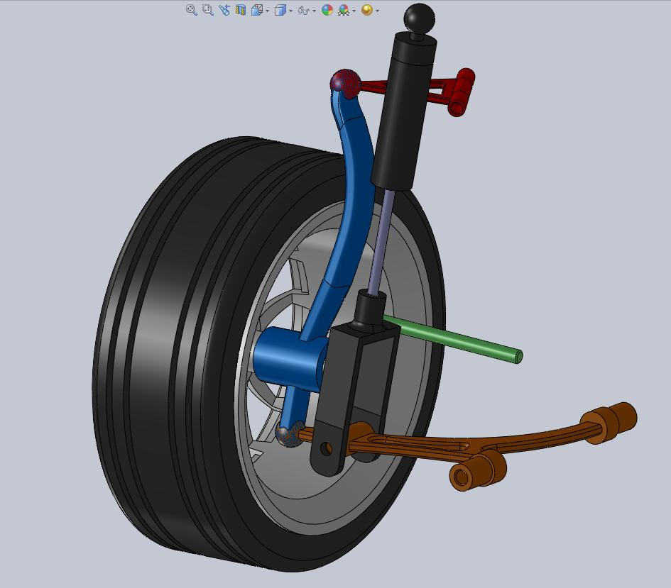 Front double high wishbone suspension 3d model for Suspension double