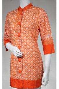 Batik Kasato 601 - Orange Tua [ M ] (Toko Jilbab dan Busana Muslimah Terbaru)