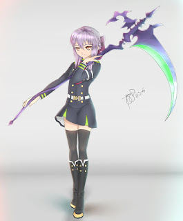 Anime Action Terbaik Owari no Seraph Shinoa Hiragi