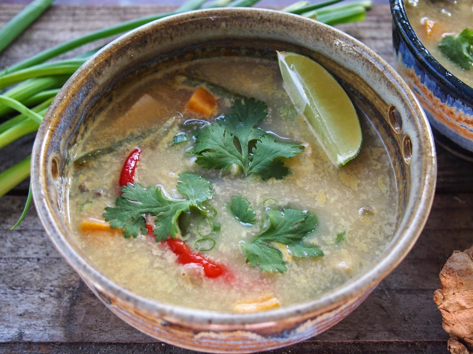 vegetarian tom kha gai